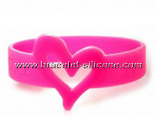 STARLING, heart shape silicone wristband